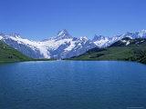 Bachalpsee  Schreckhorn and Finsterarhorn  Bernese Oberland  Swiss Alps  Switzerland