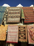 Carpets for Sale Outside Shop in Frontier Town of Agdz  Morocco  North Africa  Africa