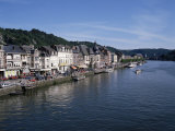 Old Town  Dinant  and River Meuse  Ardennes  Belgium