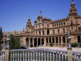 Plaza De Espana  Built for the 1929 World Fair  Maria Luisa Park  Seville  Andalucia  Spain