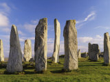 Standing Stones of Callanish  Isle of Lewis  Outer Hebrides  Scotland  United Kingdom