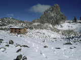 Austrian Hut on South East Face  Mount Kenya  UNESCO World Heritage Site  Kenya  East Africa