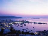 Evening View Over Mykonos  Cyclades  Greek Islands  Greece