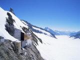 Jungfraujoch  3454 M  and Aletsch Glacier  Bernese Oberland  Swiss Alps  Switzerland