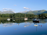Loch Leven with Boats and Reflections  Near Ballachulish  Highland Region  Scotland