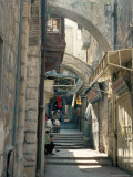 Via Dolorosa  Old City  Unesco World Heritage Site  Jerusalem  Israel  Middle East