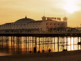 Brighton Pier at Sunset  Brighton  East Sussex  England  United Kingdom