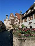 Rodergasse  Rothenburg Ob Der Tauber  Bavaria  Germany