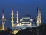 Blue Mosque (Sultan Ahmet Mosque) at Night  Istanbul  Turkey