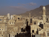 Skyline of the Old Town  Sana&#39;A  Unesco World Heritage Site  Yemen  Middle East