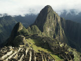 Lost City of the Incas at Dawn  Machu Picchu  Unesco World Heritage Site  Peru  South America