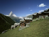 The Matterhorn  4478M  from Findeln  Valais  Swiss Alps  Switzerland