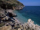 Rocky Coast  Island of Sicily  Italy  Mediterranean