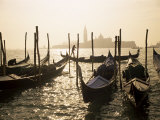 View Towards San Giorgio Maggiore  and Gondolas  Venice  Veneto  Italy