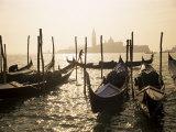 View Towards San Giorgio Maggiore  and Gondolas  Venice  Veneto  Italy