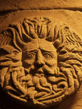 Romano-Celtic Gorgon&#39;s Head  Roman Baths  Bath  Avon  England  United Kingdom