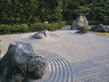 Raked Stone Garden  Taizo-In Temple  Kyoto  Japan