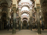 Interior of the Mezquita (Great Mosque)  Unesco World Heritage Site  Cordoba  Andalucia  Spain