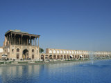 Ali Qapu Palace on Imam Square  Isfahan  Iran  Middle East