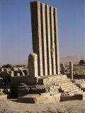 Arsh Bilqis Temple  New Excavations in 1997  Marib  Rub Al Khali Desert  Yemen  Middle East