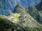 Looking Down onto the Inca City from the Inca Trail  Machu Picchu  Unesco World Heritage Site  Peru