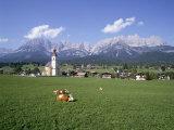 Going and Kaiser Mountains  Tirol (Tyrol)  Austria