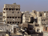 Skyline of the Old Town  Sana'A  Unesco World Heritage Site  Yemen  Middle East