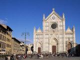 Piazza Santa Croce  Florence  Tuscany  Italy