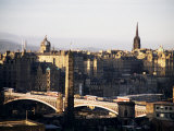 View of City from Calton Hill  Edinburgh  Lothian  Scotland  United Kingdom
