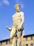 Neptune Fountain  Piazza Della Signoria  Florence  Tuscany  Italy