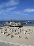 Pier at Sellin  Island of Rugen  Mecklenburg-Vorpommern  Germany