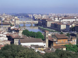 View of City from Piazzale Michelangelo  Florence  Tuscany  Italy