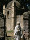 Priest Caretaker  Kuskuam (Kusquam) Church  Gondar  Ethiopia  Africa