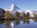 The Matterhorn Reflected in Grindjilake  Switzerland