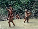 Yanomami Indians Fishing  Brazil  South America