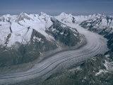Aletschglacier  Bernese Alps from South  Switzerland