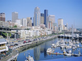 Waterfront and Skyline of Seattle  Washington State  USA