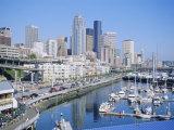 Waterfront and Skyline of Seattle  Washington State  USA