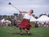 Throwing the Light Hammer  Aboyne Highland Games  Aboyne  Scotland  United Kingdom
