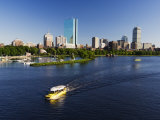 City Skyline Across the Charles River  Boston  Massachusetts  New England  USA