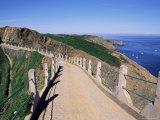 La Coupee and Dixcart Bay  Sark  Channel Islands  United Kingdom