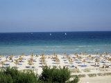 Beach in Alcudia  Majorca  Balearic Islands  Spain  Mediterranean