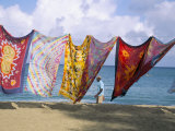Batiks on Line on the Beach  Turtle Beach  Tobago  West Indies  Caribbean  Central America