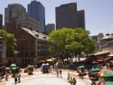 Quincy Market  Boston  Massachusetts  New England  USA