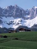Kaiser Gebirge Mountain Range from the South  Above Ellmau  Tirol  Austrian Alps  Austria