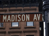 Madison Avenue Street Sign  Manhattan  New York City  New York  USA