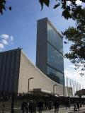 United Nations Headquarters Building  Manhattan  New York City  New York  USA