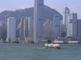Victoria Harbour and Skyline of Hong Kong Island  Hong Kong  China
