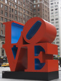 Love Sculpture by Robert Indiana  6th Avenue  Manhattan  New York City  New York  USA