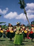 Hula Dance  Waikiki  Hawaii  Hawaiian Islands  Pacific  USA